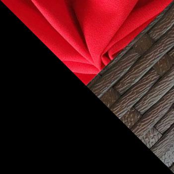 Черный, металл / Коричневый, ротанг / Красный, ткань