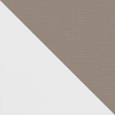Белый матовый / Бежевый микровелюр