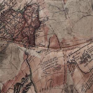 цвет Ткань «Карта на бежевом»