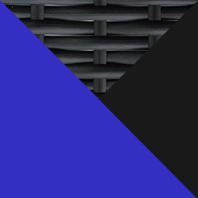 Черный, металл / Черный, иск. ротанг / Синий, ткань