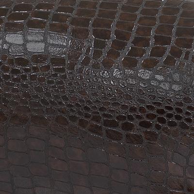 Темно-коричневый крокодил, экокожа