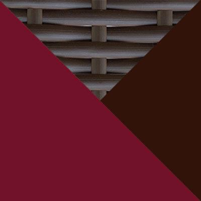 Коричневый, металл / Коричневый, иск. ротанг / Бордо, ткань