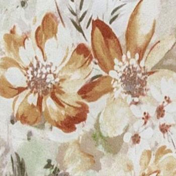 Коричневые цветы, велюр