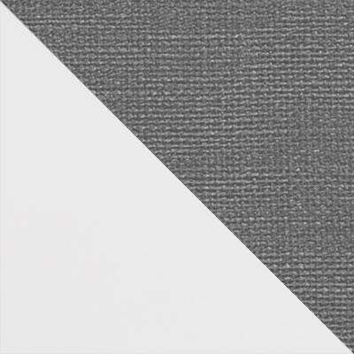 Белый матовый / Серый микровелюр