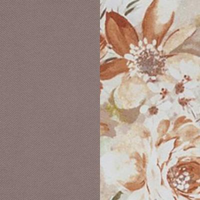 Светло-коричневый / Коричневые цветы, велюр
