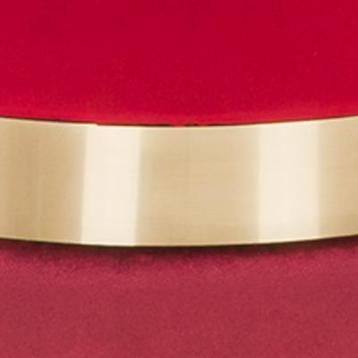 Красный, бордовый, велюр / Латунь