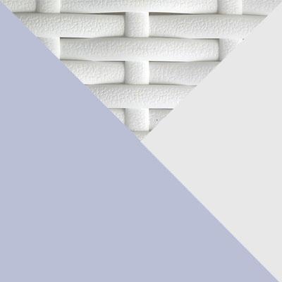 Белый, металл / Белый, иск. ротанг / Серый, ткань