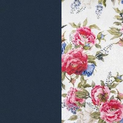 Синий / Яркие розы, велюр
