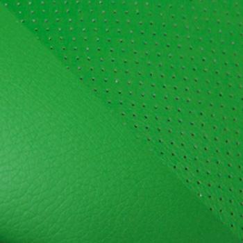 Кож/зам, зеленый/зеленый перфорированный, 36-001/36-001/06