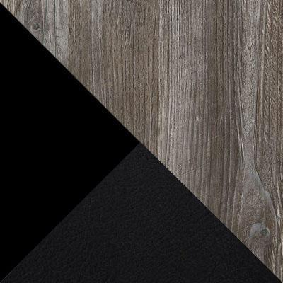 Сосна Пасадена / Черный матовый / Темно-серый, экокожа