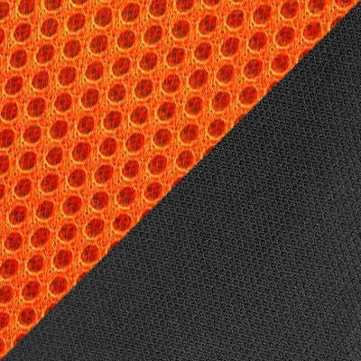 Оранжевый, сетка / Черный, ткань