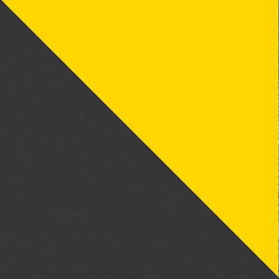 Желтый / Черный муар