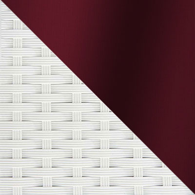 Белый, ротанг / Бордо, ткань