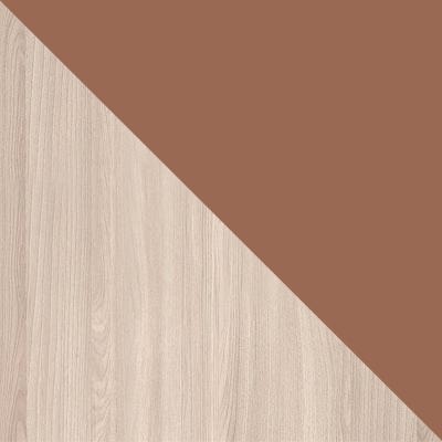 Корпус Ясень Шимо светлый / Фасад Шоколад глянец