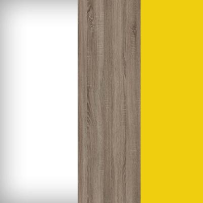 Белый / Дуб Сонома Трюфель / Желтый