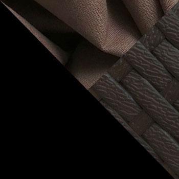 Черный, металл / Коричневый, ротанг / Коричневый, ткань