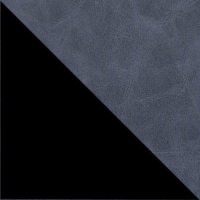 Синий, экокожа / Черный