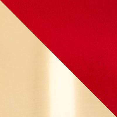 Красный, велюр / Латунь