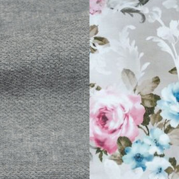 Серый / Розы, велюр