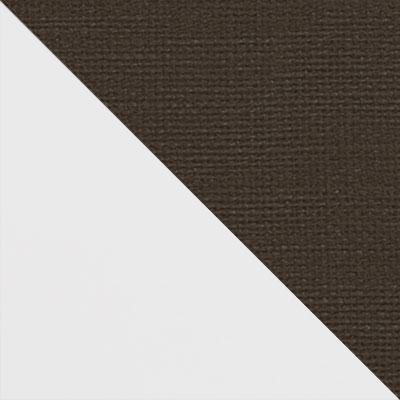 Белый матовый / Коричневый микровелюр