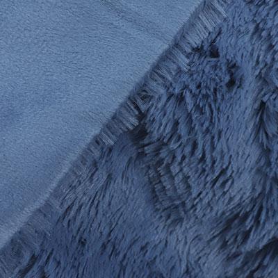 Синий, искусственный мех