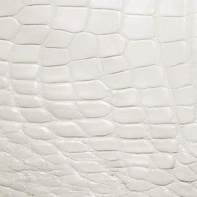 Белый крокодил, экокожа