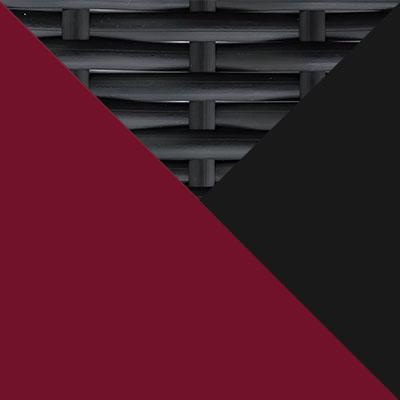 Черный, металл / Черный, иск. ротанг / Бордо, ткань