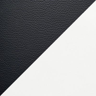 Черный иск. кожа / Белый пластик
