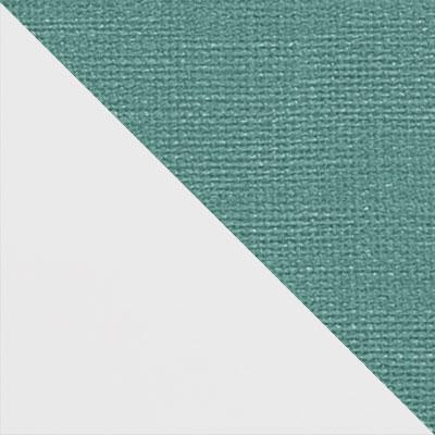 Белый матовый / Аквамарин микровелюр