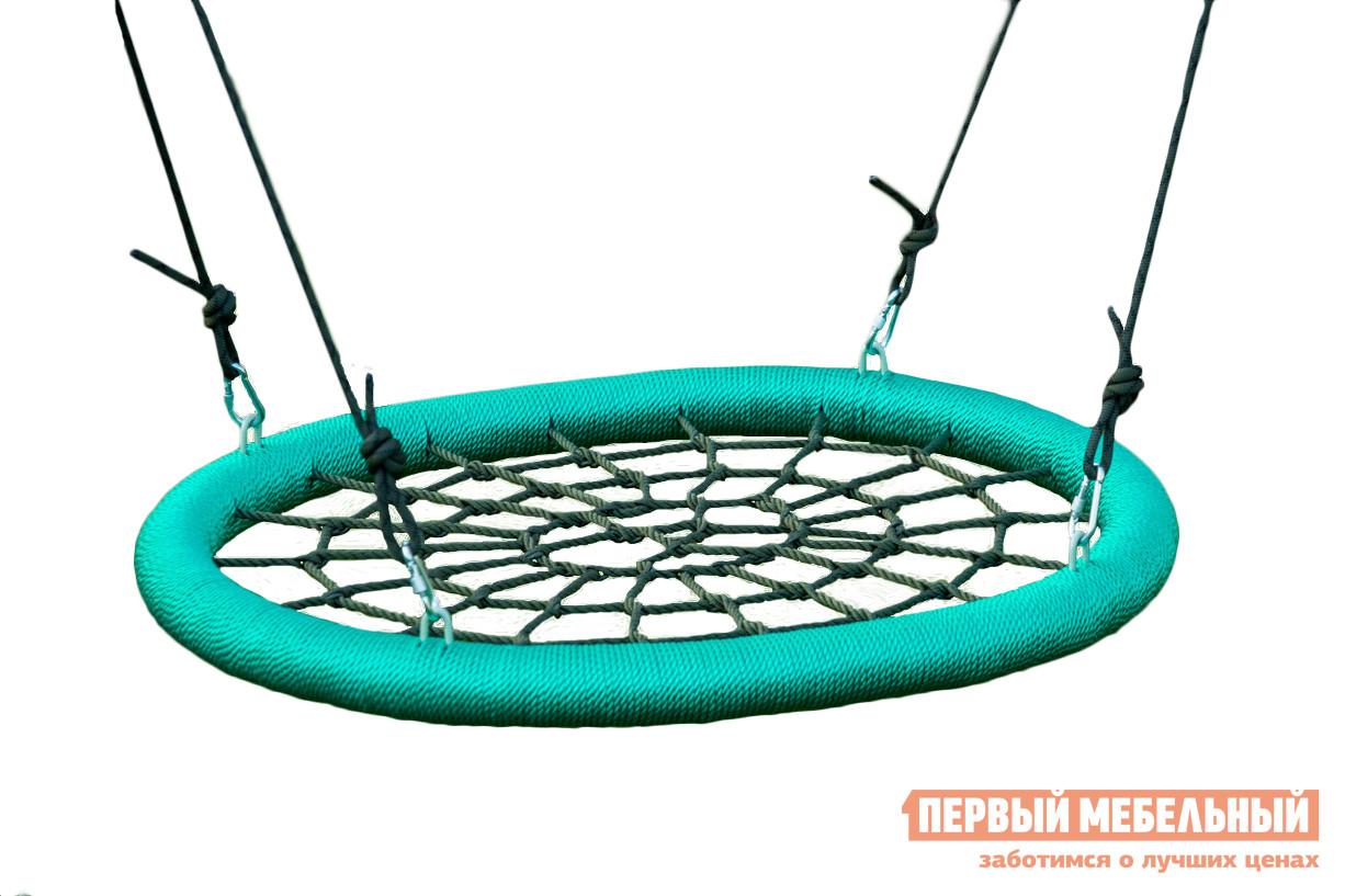 Подвесные садовые качели для дачи Облачный замок Качели гнездо 85х110 см цена
