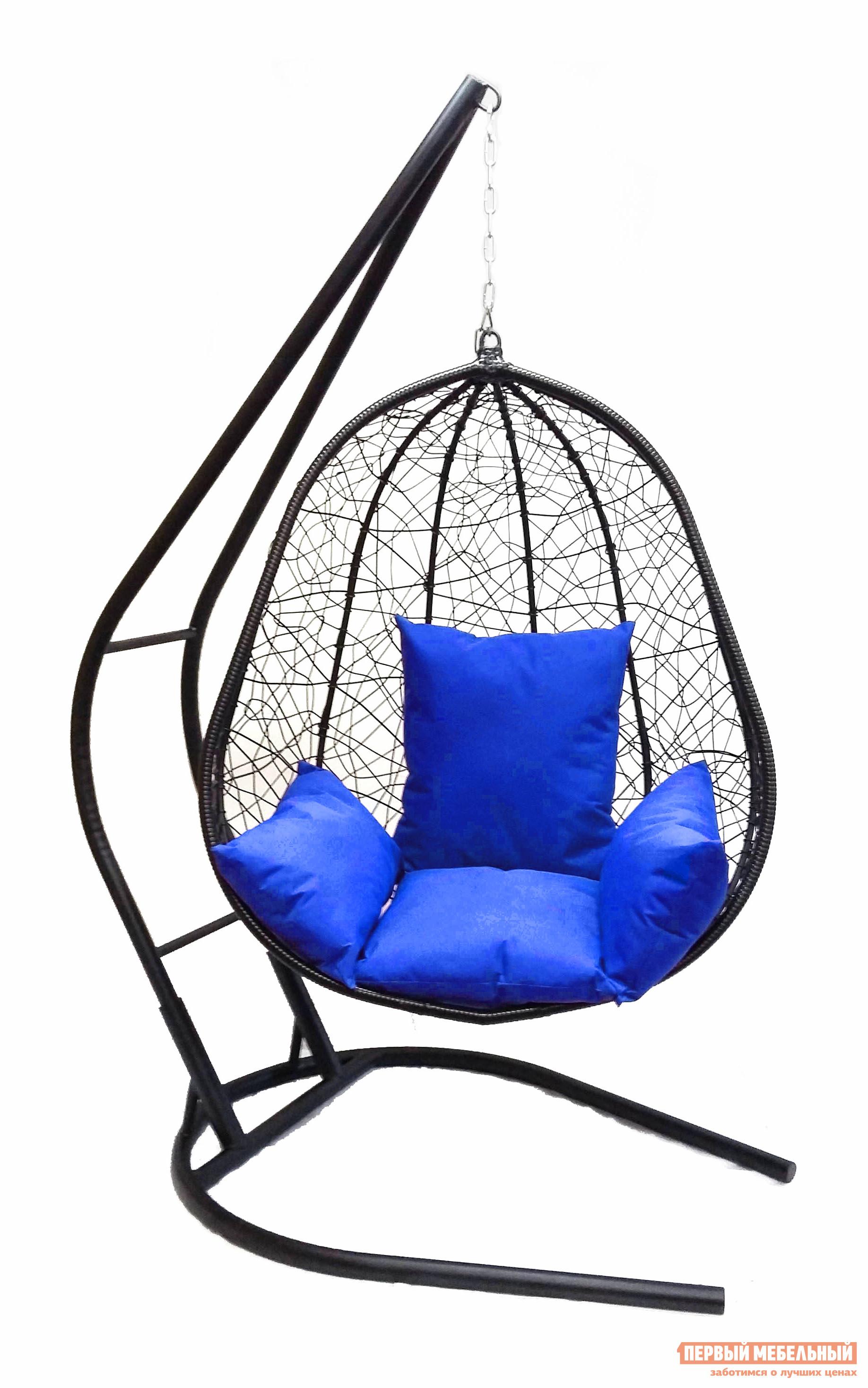Подвесное кресло Облачный замок Капри XXL черное с синей подушкой черное боди athena xxl 3xl