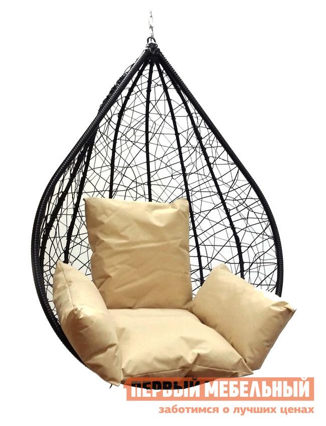 Подвесное кресло Облачный замок Алания черное XXL с бежевой подушкой черное боди athena xxl 3xl