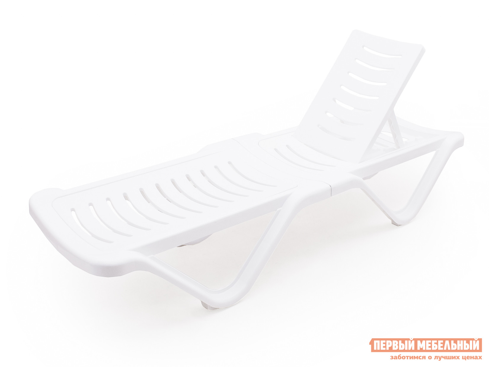 Лежак для дачи пластиковый Альтернатива Шезлонг (1920х620х320) белый пластиковый шезлонг алеана бриз