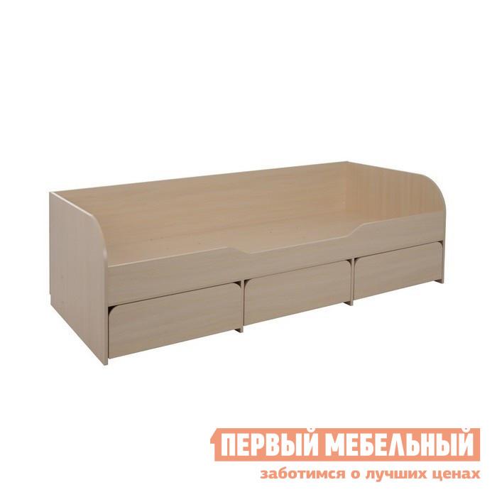 Кровать Мебельсон Сити 4.1 Без матраса, Дуб Млечный