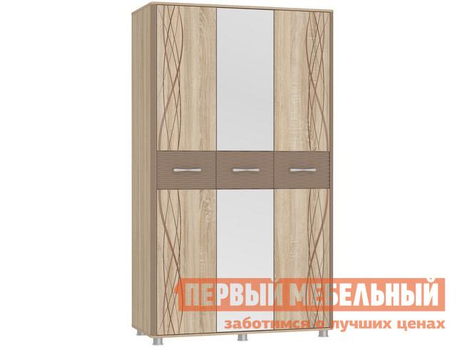 Шкаф распашной Мебельсон Ривьера Шкаф 3-створчатый шкаф распашной мст натали шкаф четырехдверный мод 10