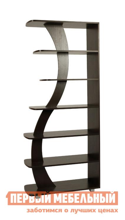 Стеллаж Мебельсон Стойка 4 ВенгеСтеллажи для дома<br>Габаритные размеры ВхШхГ 1890x856x350 мм. Открытый стеллаж с полками разной длины.  Ограничители необычной формы сделают стеллаж заметной деталью вашего интерьера.  Модель можно использовать для зонирования пространства в комнате. Обратите внимание! Для устойчивости стеллаж рекомендуется крепить к стене (в случае использования стеллажа для зонирования — крепление к стене обязательно).  Фурнитура для крепления к стене в комплект стеллажа не входит. Изделие выполнено из ЛДСП толщиной 16 мм.  Края отделаны кромкой ПВХ 0,4 мм.  Стеллаж устанавливается на регулируемые опоры.<br><br>Цвет: Венге<br>Цвет: Венге<br>Высота мм: 1890<br>Ширина мм: 856<br>Глубина мм: 350<br>Кол-во упаковок: 1<br>Форма поставки: В разобранном виде<br>Срок гарантии: 18 месяцев<br>Тип: Открытые, Книжные, Разделители<br>Материал: Деревянные, из ЛДСП<br>Размер: Широкие<br>Особенности: Дешевые