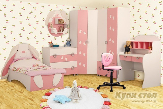 Письменный стол Зайка (Стол  детский 0,9 МДФ) КупиСтол.Ru 7460.000