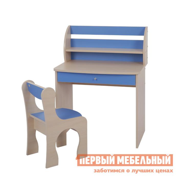 Фото Столик и стульчик Мебельсон Морячок Дуб млечный / Голубой. Купить с доставкой