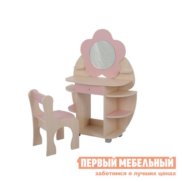 Столик и стульчик  Набор Ромашка Дуб млечный / Розовый Мебельсон 5005