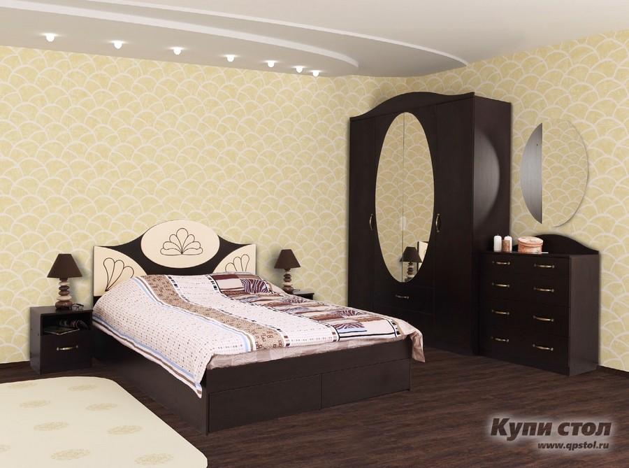 Кровать Валенсия Кровать 1.4/1.6 Люкс МДФ с ящ. КупиСтол.Ru 11150.000