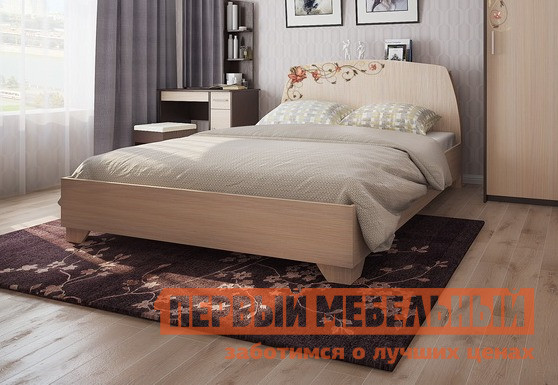 Двуспальная кровать Мебельсон Виктория-2 Кровать 1.6 спальный гарнитур мебельсон виктория 1 к1