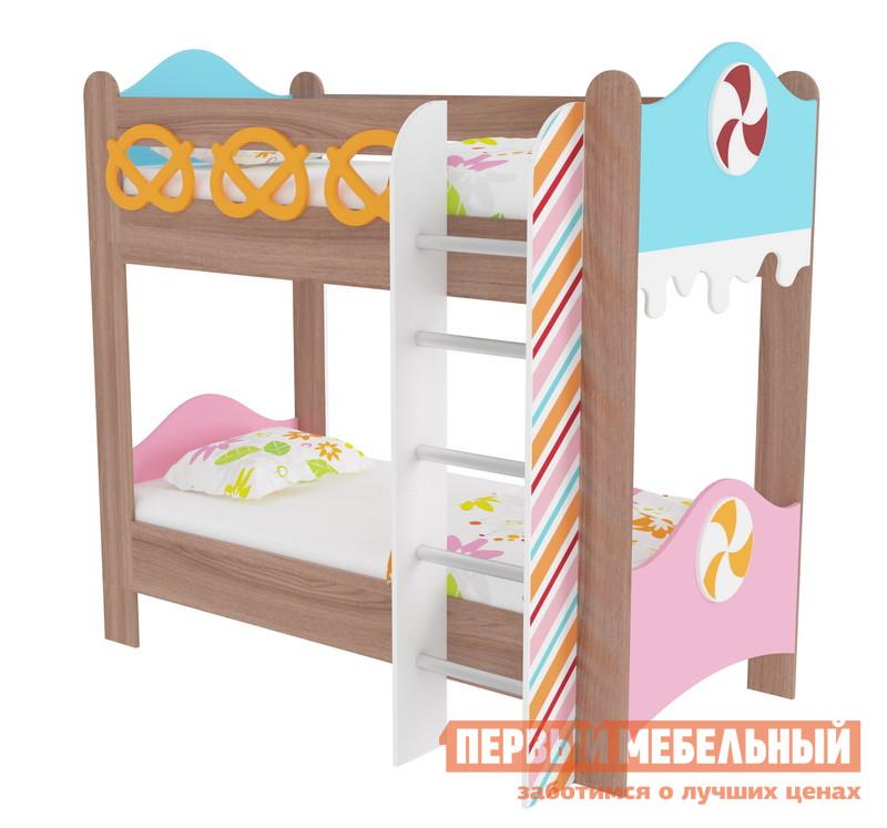 Двухъярусная кровать Мебельсон Кровать двухъярусная «Пряничный домик»