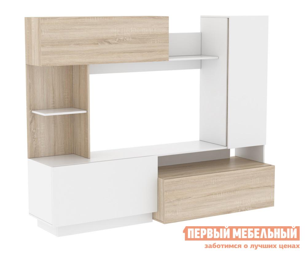 Гостиная Мебельсон Эссен Мини-стенка Дуб сонома / Белый от Купистол