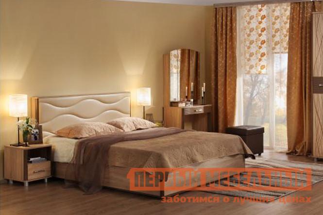 Купить со скидкой Полутороспальная кровать Мебельсон Ривьера 1,4 Люкс Дуб сонома / Молочный шоколад