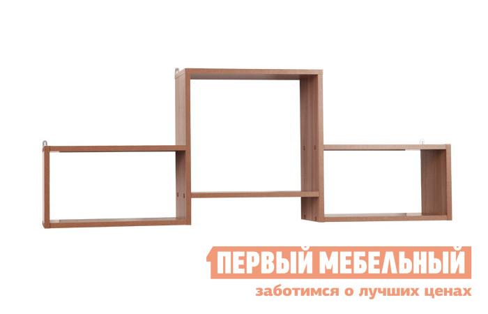 Настенная полка Мебельсон ПН-4 Ясень Шимо темный