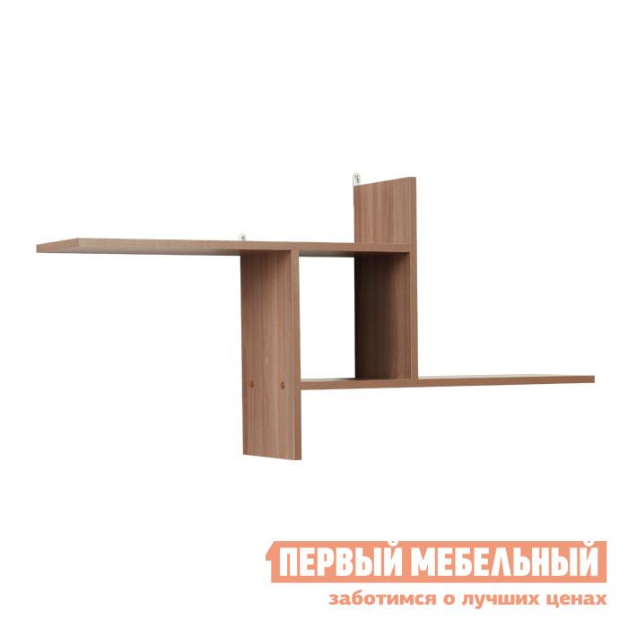 Настенная полка Мебельсон ПН-1 Ясень Шимо темный
