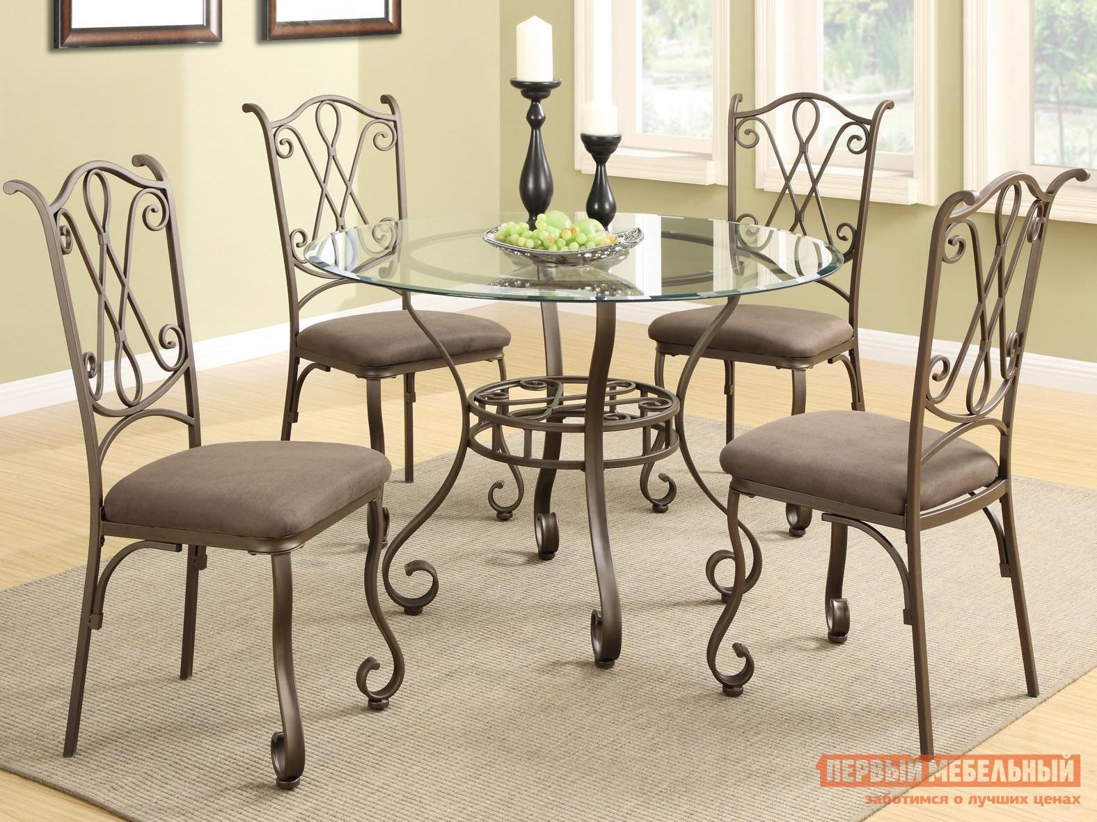 Обеденная группа для столовой и гостиной МебельТорг 2819/2719 Темно-коричневый