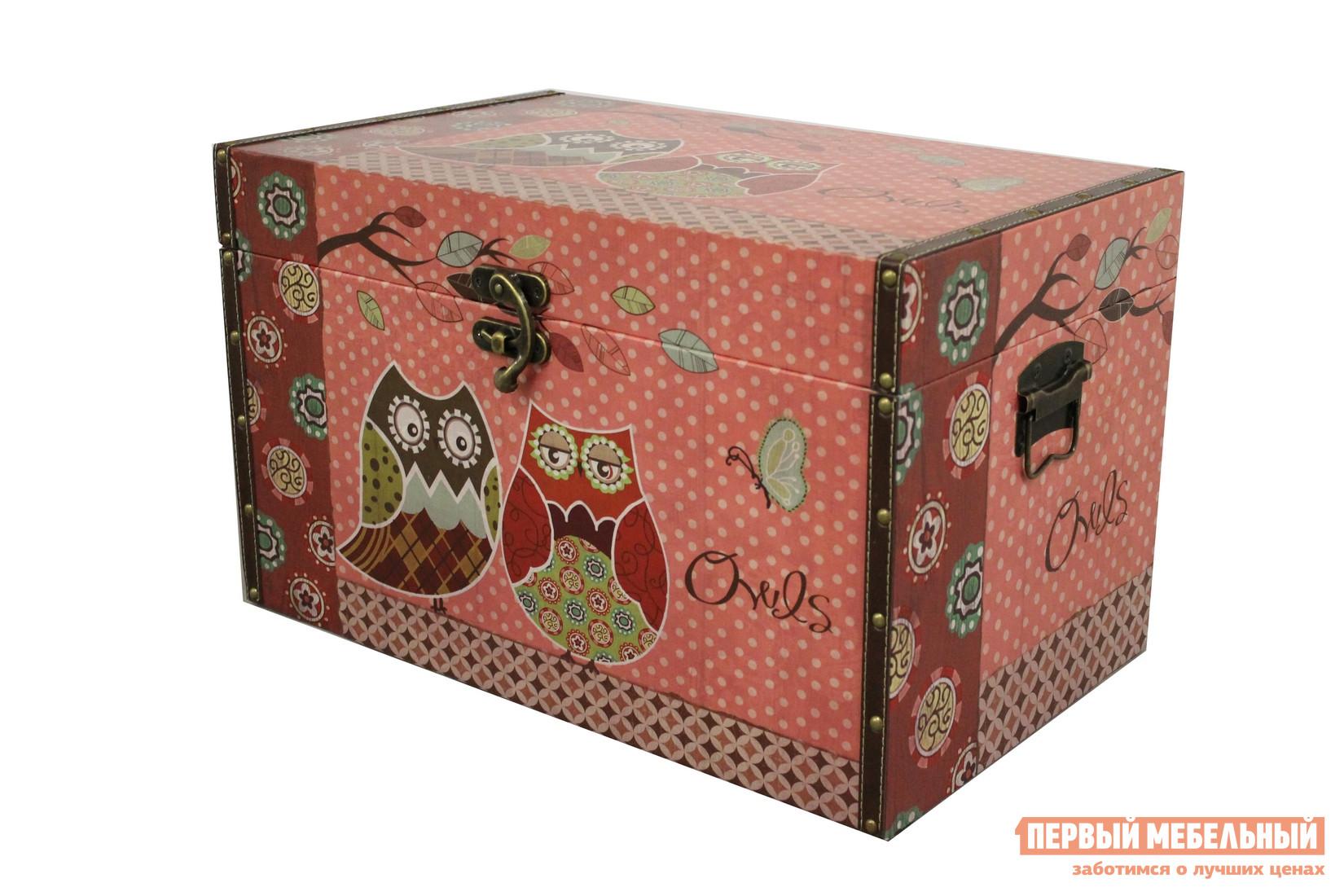 Сундук МебельТорг 2595 Большой, Розовый / Совы от Купистол