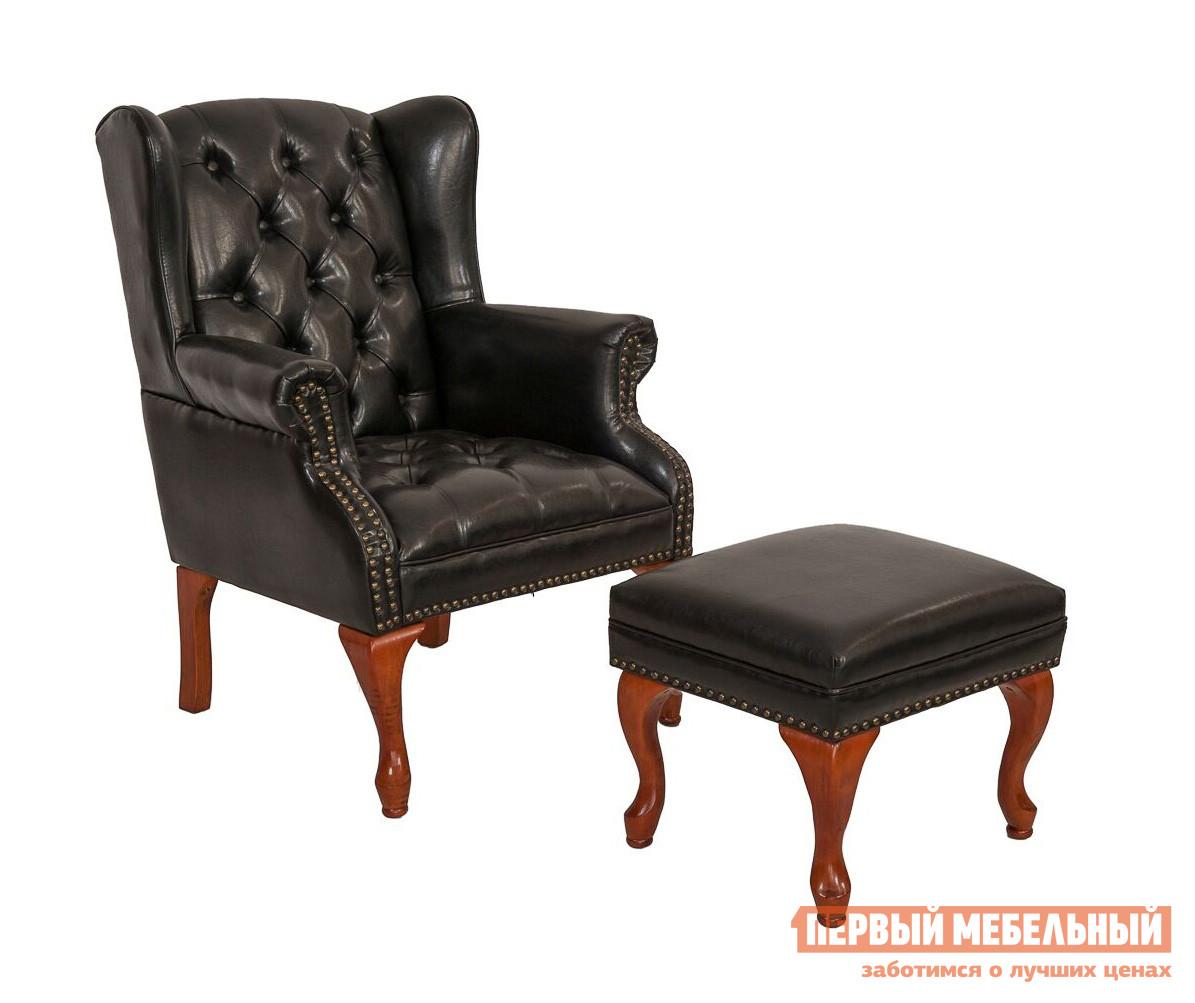 Кресло МебельТорг 2540B Черная экокожа