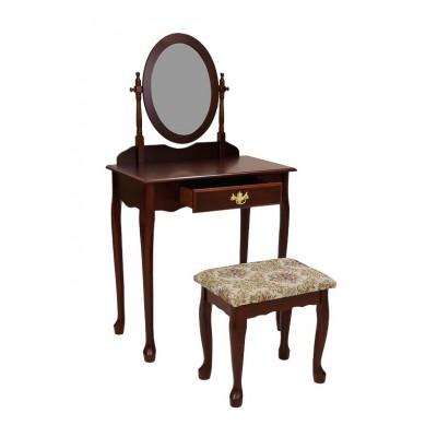 Туалетный столик МебельТорг Столик туалетный с банкеткой 1696 Махагон
